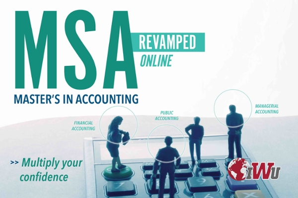 Revamped Online Master of Science in Accounting. Multiply your confidence.